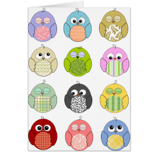 Cute Owl Pattern Cards