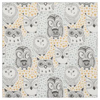 Cute Owl Pattern fabric