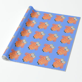 Cute Owl Pattern Give a Bird Watcher Wrapping Paper