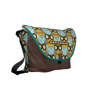 Cute Owl Pattern You Choose Colors Courier Bag