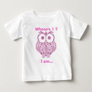 CUTE OWL PINK GIRLS  First Birthday GIFT Tshirts