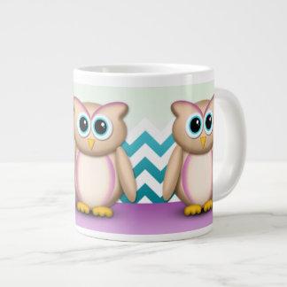 Cute Owl - Purple & Turquoise Chevron 20oz Mug