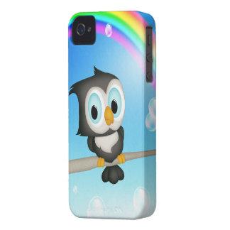 Cute Owl & Rainbow iPhone 4 Case