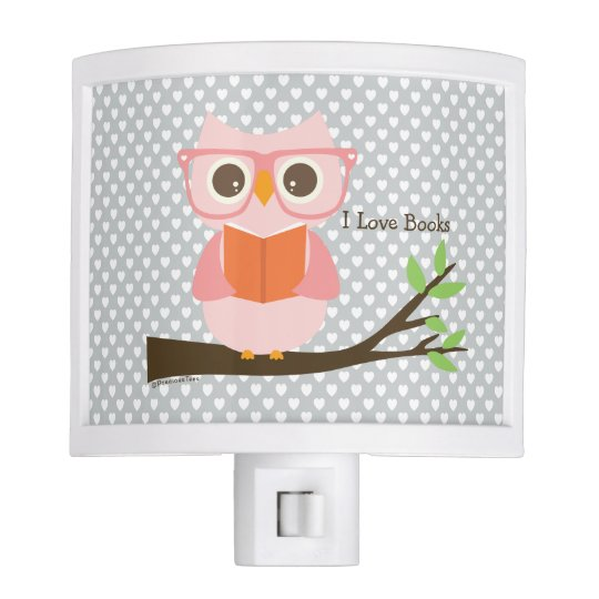 Cute Owl Reading Nite Light