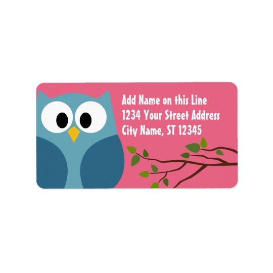 Cute Owl - Return Address Labels
