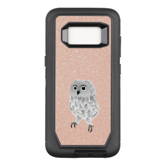 Cute Owl Rose Gold Bling OtterBox Defender Samsung Galaxy S8 Case