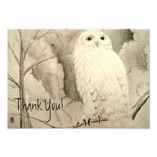 Cute Owl Thank You Announcement