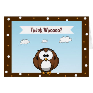 Cute Owl Thank You Cards