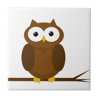 Cute owl tile