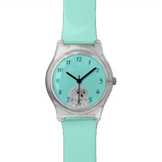 Cute Owl Turquoise Numbers Wristwatch