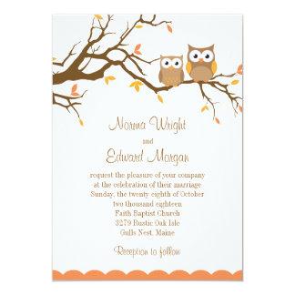 Cute Owl Wedding Invitation