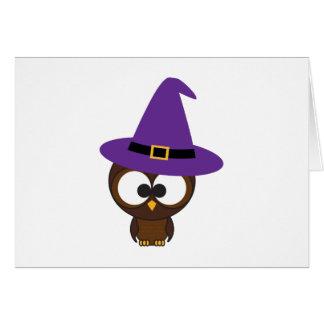 Cute Owl Witch Card