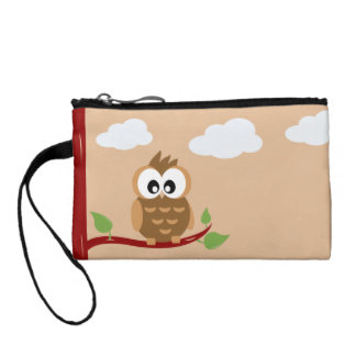 Cute Owl with Big Bright Eyes Change Purses