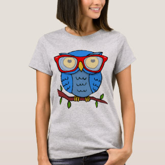 Cute Owl with Glasses T-Shirt