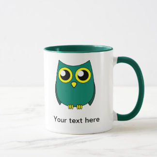 Cute Owl with Huge Yellow Eyes Mug