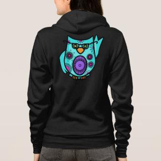 Cute Owl Zip Hoodie Sweatshirt