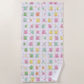 cute owls allover A Beach Towel