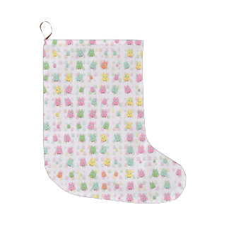 cute owls allover A Large Christmas Stocking