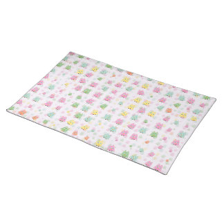 cute owls allover A Placemat