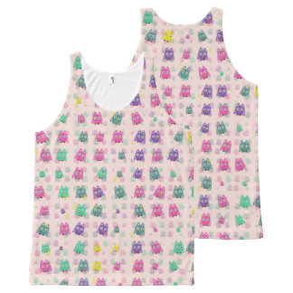 cute owls allover B All-Over-Print Tank Top