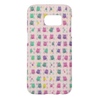cute owls allover B Samsung Galaxy S7 Case