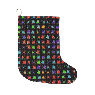 cute owls allover C Large Christmas Stocking