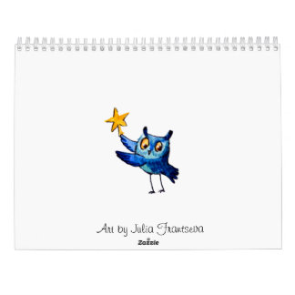 Cute owls art calendar
