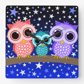 cute owls clock