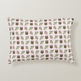 cute owls decorative pillow