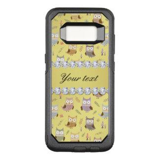 Cute Owls Faux Gold Foil Bling Diamonds OtterBox Commuter Samsung Galaxy S8 Case