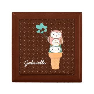 Cute Owls Ice Cream Cone Gift Box
