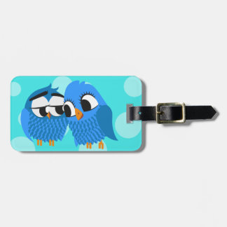 Cute Owls in Love Luggage Tag