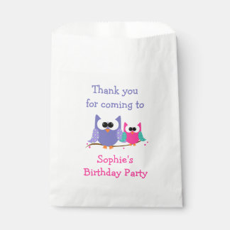 Cute Owls Kids Birthday Party Goody Bags
