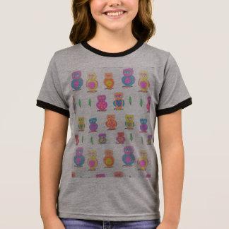 Cute Owls Pattern Tshirt