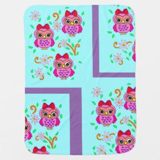 cute owls stroller blanket