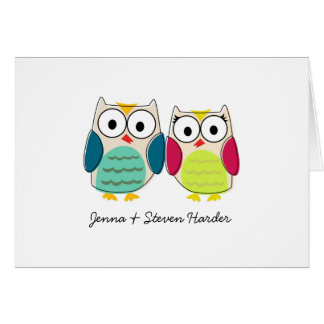 Cute Owls, Wedding Thank You Cards