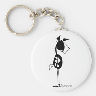 Cute Paint Horse Cartoon Basic Round Button Keychain