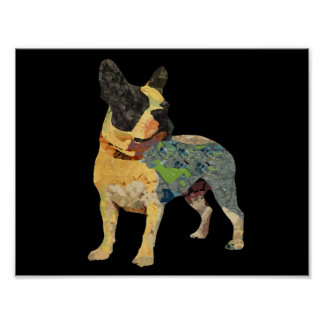 Cute Painted French Bulldog Poster
