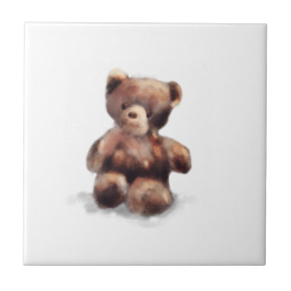 Cute Painted Teddy Bear Ceramic Tiles