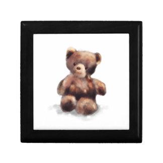 Cute Painted Teddy Bear Gift Box