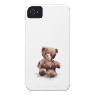 Cute Painted Teddy Bear iPhone 4 Case-Mate Case