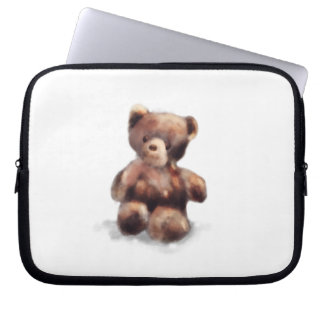 Cute Painted Teddy Bear Laptop Sleeve