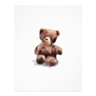 Cute Painted Teddy Bear Letterhead