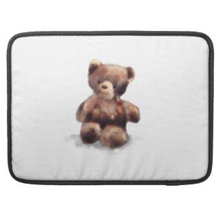 Cute Painted Teddy Bear MacBook Pro Sleeves