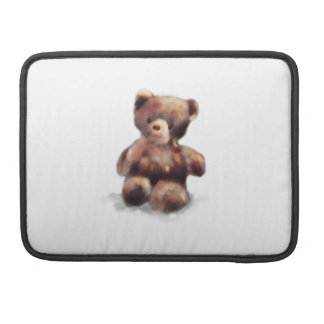 Cute Painted Teddy Bear MacBook Pro Sleeves