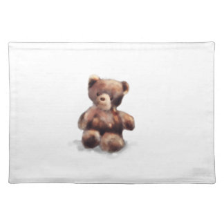 Cute Painted Teddy Bear Placemat