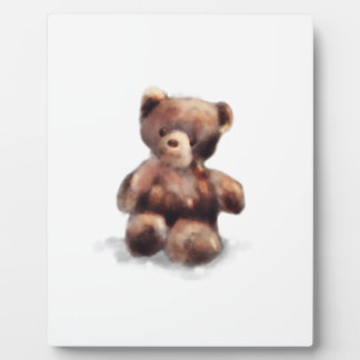 Cute Painted Teddy Bear Plaque