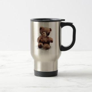Cute Painted Teddy Bear Travel Mug
