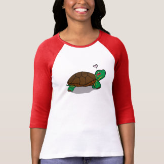 Cute Painted Turtle Red - 3/4 Sleeve Shirt