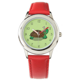 Cute Painted Turtle Red Watch